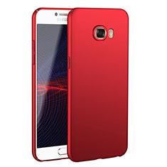 Coque Plastique Rigide Etui Housse Mat M02 pour Samsung Galaxy C7 SM-C7000 Rouge