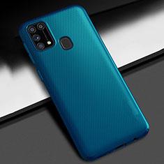 Coque Plastique Rigide Etui Housse Mat M02 pour Samsung Galaxy M21s Bleu