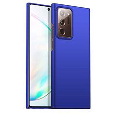 Coque Plastique Rigide Etui Housse Mat M02 pour Samsung Galaxy Note 20 Ultra 5G Bleu