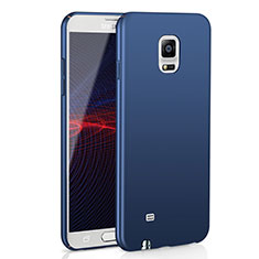 Coque Plastique Rigide Etui Housse Mat M02 pour Samsung Galaxy Note 4 SM-N910F Bleu