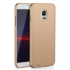Coque Plastique Rigide Etui Housse Mat M02 pour Samsung Galaxy Note 4 SM-N910F Or
