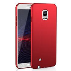 Coque Plastique Rigide Etui Housse Mat M02 pour Samsung Galaxy Note 4 SM-N910F Rouge