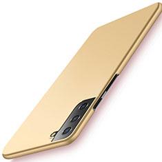 Coque Plastique Rigide Etui Housse Mat M02 pour Samsung Galaxy S21 5G Or