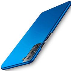 Coque Plastique Rigide Etui Housse Mat M02 pour Samsung Galaxy S21 Plus 5G Bleu