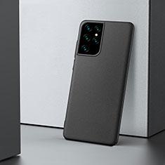 Coque Plastique Rigide Etui Housse Mat M02 pour Samsung Galaxy S21 Ultra 5G Noir