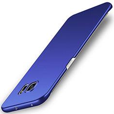 Coque Plastique Rigide Etui Housse Mat M02 pour Samsung Galaxy S6 Edge SM-G925 Bleu