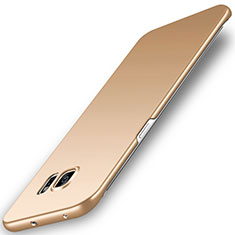 Coque Plastique Rigide Etui Housse Mat M02 pour Samsung Galaxy S6 Edge SM-G925 Or