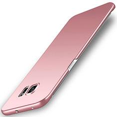 Coque Plastique Rigide Etui Housse Mat M02 pour Samsung Galaxy S6 Edge SM-G925 Or Rose