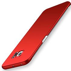 Coque Plastique Rigide Etui Housse Mat M02 pour Samsung Galaxy S6 Edge SM-G925 Rouge