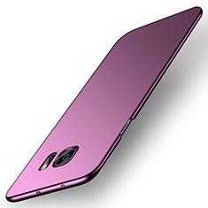 Coque Plastique Rigide Etui Housse Mat M02 pour Samsung Galaxy S6 Edge SM-G925 Violet