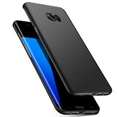Coque Plastique Rigide Etui Housse Mat M02 pour Samsung Galaxy S7 Edge G935F Noir