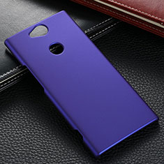 Coque Plastique Rigide Etui Housse Mat M02 pour Sony Xperia XA2 Bleu