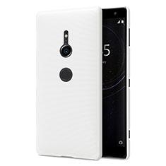 Coque Plastique Rigide Etui Housse Mat M02 pour Sony Xperia XZ2 Blanc