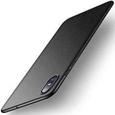 Coque Plastique Rigide Etui Housse Mat M02 pour Xiaomi Mi 8 Screen Fingerprint Edition Noir