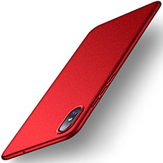 Coque Plastique Rigide Etui Housse Mat M02 pour Xiaomi Mi 8 Screen Fingerprint Edition Rouge