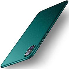 Coque Plastique Rigide Etui Housse Mat M02 pour Xiaomi Mi 8 Screen Fingerprint Edition Vert