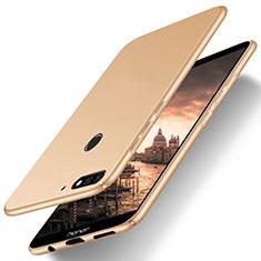 Coque Plastique Rigide Etui Housse Mat M03 pour Huawei Honor 7C Or