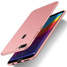 Coque Plastique Rigide Etui Housse Mat M03 pour Huawei Y7 (2018) Or Rose