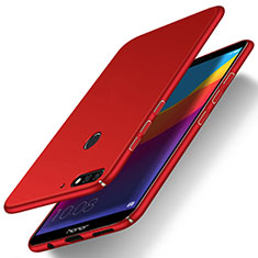 Coque Plastique Rigide Etui Housse Mat M03 pour Huawei Y7 (2018) Rouge