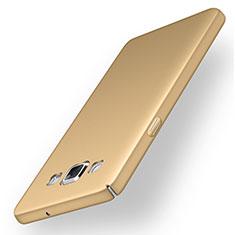 Coque Plastique Rigide Etui Housse Mat M03 pour Samsung Galaxy A5 SM-500F Or