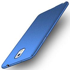 Coque Plastique Rigide Etui Housse Mat M03 pour Samsung Galaxy Note 3 N9000 Bleu