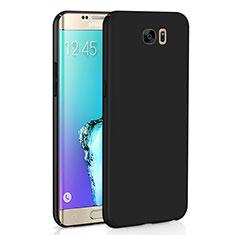 Coque Plastique Rigide Etui Housse Mat M03 pour Samsung Galaxy S6 Edge SM-G925 Noir