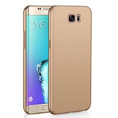 Coque Plastique Rigide Etui Housse Mat M03 pour Samsung Galaxy S6 Edge SM-G925 Or