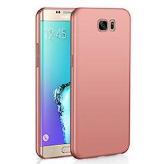 Coque Plastique Rigide Etui Housse Mat M03 pour Samsung Galaxy S6 Edge SM-G925 Or Rose