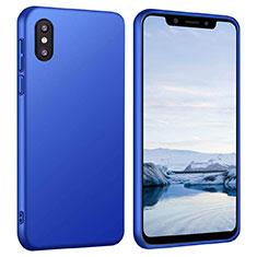 Coque Plastique Rigide Etui Housse Mat M03 pour Xiaomi Mi 8 Pro Global Version Bleu