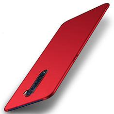 Coque Plastique Rigide Etui Housse Mat M05 pour Oppo Reno2 Rouge