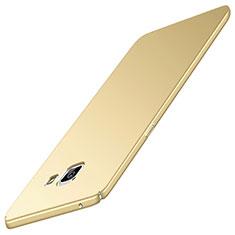 Coque Plastique Rigide Etui Housse Mat M05 pour Samsung Galaxy A9 Pro (2016) SM-A9100 Or