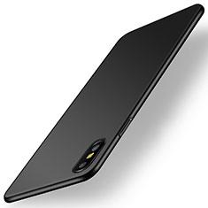 Coque Plastique Rigide Etui Housse Mat M15 pour Apple iPhone X Noir