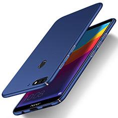 Coque Plastique Rigide Etui Housse Mat M15 pour Huawei Enjoy 8e Bleu