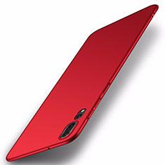 Coque Plastique Rigide Etui Housse Mat P01 pour Huawei P20 Pro Rouge