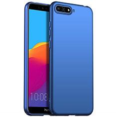 Coque Plastique Rigide Etui Housse Mat P01 pour Huawei Y6 Prime (2018) Bleu