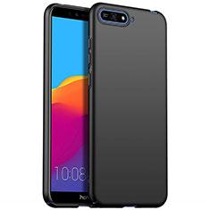 Coque Plastique Rigide Etui Housse Mat P01 pour Huawei Y6 Prime (2018) Noir