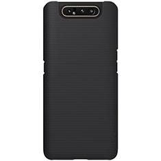 Coque Plastique Rigide Etui Housse Mat P01 pour Samsung Galaxy A80 Noir