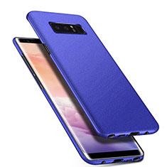 Coque Plastique Rigide Etui Housse Mat P01 pour Samsung Galaxy Note 8 Duos N950F Bleu