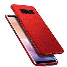 Coque Plastique Rigide Etui Housse Mat P01 pour Samsung Galaxy Note 8 Rouge