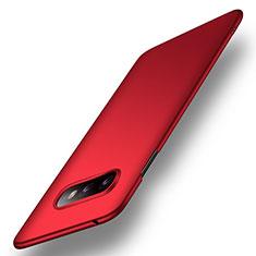 Coque Plastique Rigide Etui Housse Mat P01 pour Samsung Galaxy S10e Rouge