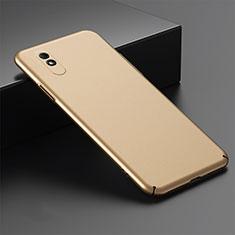 Coque Plastique Rigide Etui Housse Mat P01 pour Xiaomi Redmi 9A Or