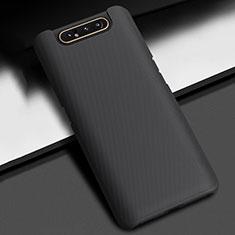 Coque Plastique Rigide Etui Housse Mat P02 pour Samsung Galaxy A80 Noir