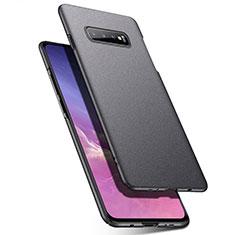 Coque Plastique Rigide Etui Housse Mat P02 pour Samsung Galaxy S10 Gris Fonce