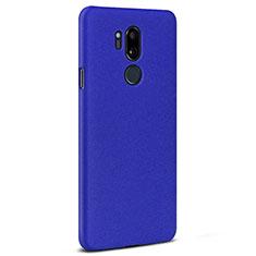 Coque Plastique Rigide Etui Housse Sables Mouvants pour LG G7 Bleu