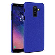 Coque Plastique Rigide Etui Housse Sables Mouvants pour Samsung Galaxy A6 Plus (2018) Bleu