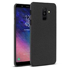 Coque Plastique Rigide Etui Housse Sables Mouvants pour Samsung Galaxy A6 Plus Noir