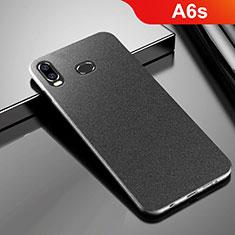 Coque Plastique Rigide Etui Housse Sables Mouvants pour Samsung Galaxy A6s Noir