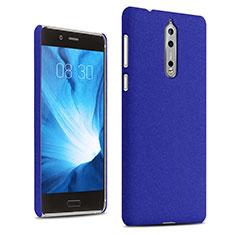 Coque Plastique Rigide Etui Sables Mouvants pour Nokia 8 Bleu