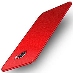 Coque Plastique Rigide Etui Sables Mouvants pour Samsung Galaxy C7 SM-C7000 Rouge