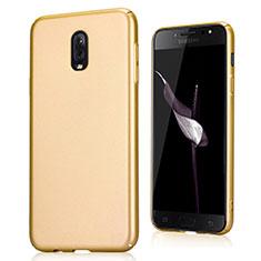 Coque Plastique Rigide Etui Sables Mouvants pour Samsung Galaxy J7 Plus Or